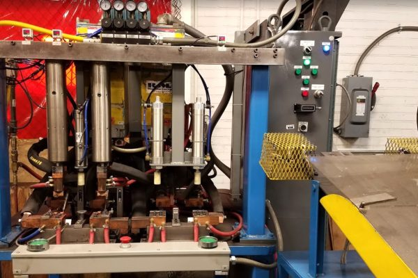 Single and multiple (shown) station resistance welding ranging from 50 KVA - 250 KVA.