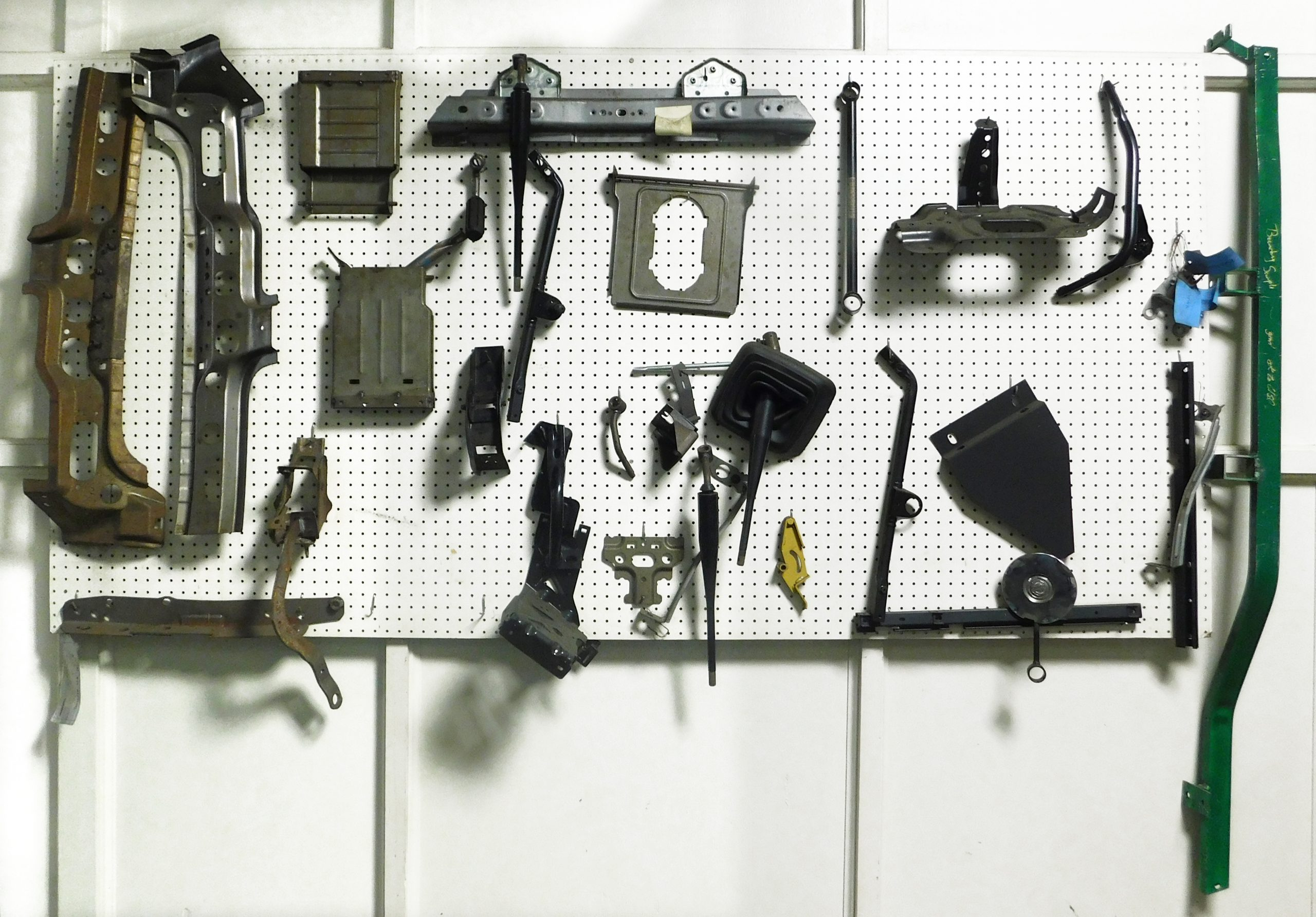 Assorted parts on display.